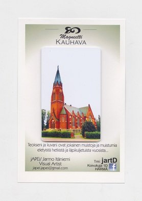 Jarmo It�niemi; Photo Magnet, 2014, Original Photography Color, 54 x 86 mm. Artwork description: 241  Cathedral of KAUHAVA Finland  ...