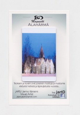 Jarmo It�niemi; Photo Magnet, 2014, Original Photography Color, 54 x 86 mm. Artwork description: 241    Cathedral of ALAHARMA Finland         ...