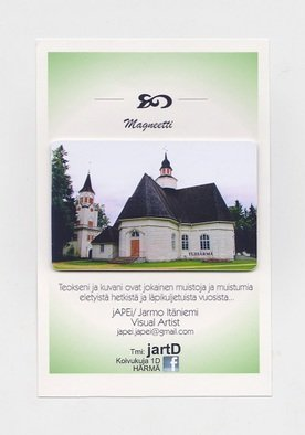 Jarmo It�niemi; Photo Magnet, 2014, Original Photography Color, 54 x 86 mm. Artwork description: 241  Cathedral of YLIHARMA Finland  ...