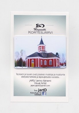 Jarmo It�niemi; Photo Magnet, 2014, Original Photography Color, 54 x 86 mm. Artwork description: 241   Cathedral of KORTESJARVI Finland  ...