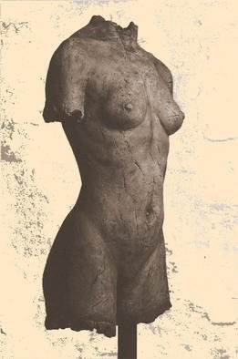 Bruce Naigles; African Torso, 1994, Original Sculpture Ceramic, 16 x 32 inches. Artwork description: 241 : I remember the model, Asta, half Ugandan, half Norwegian, as a wonderful blending of female sensuality and masculine stregnth. The torso is lifesize and is also available in bronze. ...