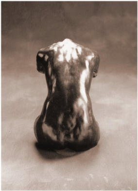 Bruce Naigles; From The Back, 1994, Original Sculpture Bronze,  30 cm. Artwork description: 241 This is a hanging sculpture of a woman' s back. Grace and sensitivity, two qualities which lend sensuality to the female form....