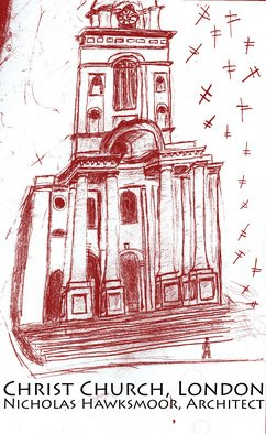 Jason Anastasopoulos; Christ Church, London, 2007, Original Drawing Pencil, 8 x 11 inches. Artwork description: 241  This is a church built by Nicholas Hawksmoor, a prominent British Architect that had something of a cult following. ...