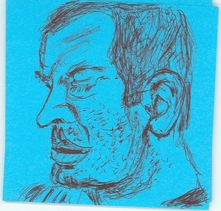 Jason Anastasopoulos; PostIt Art, 2007, Original Drawing Pen, 3 x 3 inches.