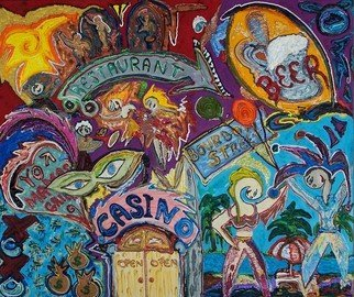 Jose Acosta; Bourbon Street, 2009, Original Painting Acrylic, 42 x 36 inches.