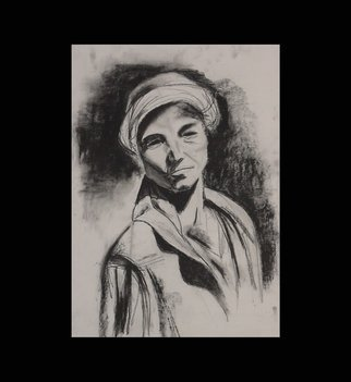 Jaz Sam; Untitled, 2002, Original Drawing Charcoal, 50 x 70 cm.