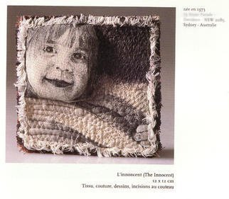 An-Chi Cheng; The Innocence, 1996, Original Textile, 12 x 12 cm. Artwork description: 241 This 12cm square miniature embroidery work on the theme of