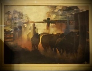 An-Chi Cheng; The Outback, 1992, Original Painting Acrylic, 70 x 50 cm. Artwork description: 241 I have always been fascinated about Australia outback life, picturing myself painting freely on acreage land while making friends with beautiful farm animals. ...
