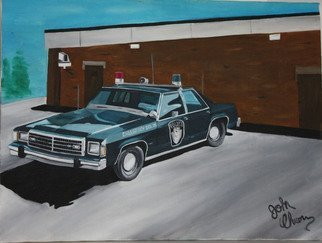 John Chicoine; LAPD, 1983, Original Painting Oil, 24 x 18 inches.