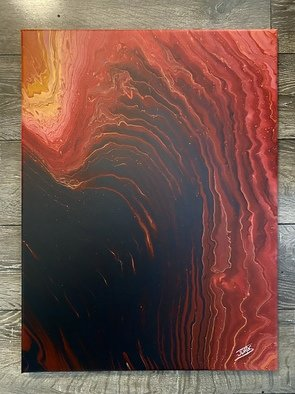 Justin Dabolish; The High Ground, 2020, Original Painting Acrylic, 18 x 24 inches. Artwork description: 241 Inspired by the lava planet Mustafar from Star Wars. Each Acrylic pour I do comes out different from the next even when using the same colors so no two paintings are the same. Original. Signed. ...