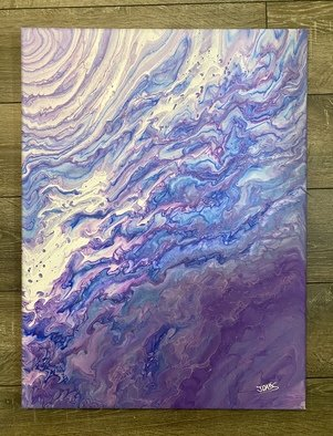 Justin Dabolish; Unicorn Blood, 2020, Original Painting Acrylic, 18 x 24 inches. Artwork description: 241 Each Acrylic pour I do comes out different from the next even when using the same colors so no two paintings are the same. ...