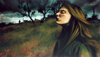 Jeannine Max; Eveningwind, 2008, Original Painting Oil, 120 x 70 cm. Artwork description: 241  Portrait, Landscape, Oil, Canvas ...