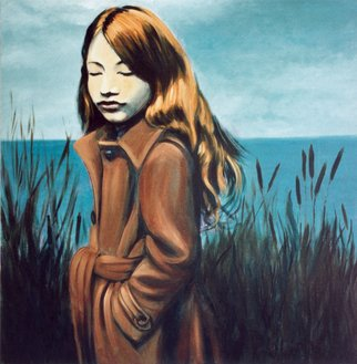 Jeannine Max; Hannah, 2008, Original Painting Oil, 80 x 80 cm. Artwork description: 241       Portrait, Landscape, Oil, Canvas      ...