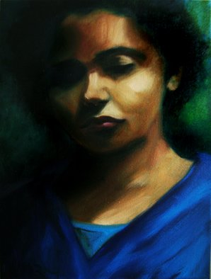 Jeannine Max; Jade, 2010, Original Painting Oil, 30 x 40 cm. Artwork description: 241  Portrait of a friend                  ...