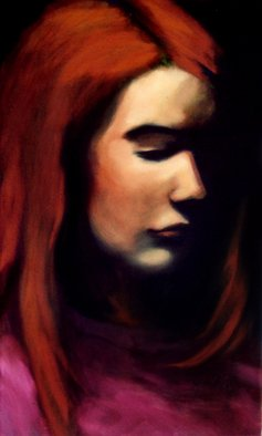 Jeannine Max; Kora, 2010, Original Painting Oil, 30 x 50 cm. Artwork description: 241  Portrait of a friend                   ...