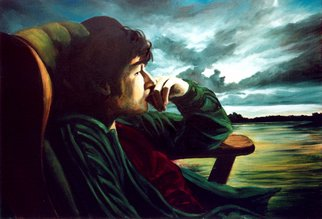 Jeannine Max; Ricky, 2008, Original Painting Oil, 100 x 70 cm. Artwork description: 241   Portrait, Landscape, Oil, Canvas  ...
