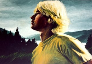 Jeannine Max; Toby, 2008, Original Painting Oil, 50 x 70 cm. Artwork description: 241    Portrait, Landscape, Oil, Canvas   ...