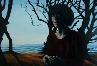 Jeannine Max; Eveningtrees, 2010, Original Painting Oil, 100 x 70 cm. Artwork description: 241  Portrait of a friend                ...