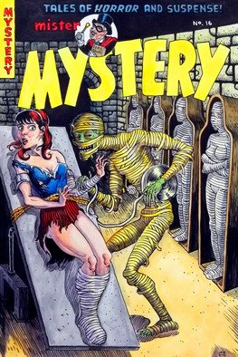 Jeffrey Dickinson; Mister Mystery, 2011, Original Watercolor, 11 x 15 inches. Artwork description: 241     My version of an old comic cover from the 50s, done for the Covered blog.  ...