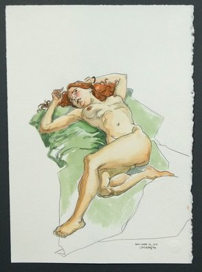 Jeffrey Dickinson; Sam March 2011, 2011, Original Watercolor, 10 x 12 inches. Artwork description: 241 Watercolor done in studio from a live model. ...