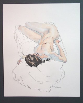 Jeffrey Dickinson; Katiemay09a, 2009, Original Watercolor, 14 x 17 inches. Artwork description: 241  Watercolor and pencil on paper. ...