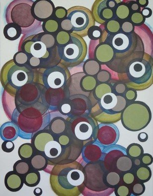 Jeffrey Gougeon; Someplace Else 8, 2010, Original Painting Acrylic, 100 x 130 cm. Artwork description: 241           abstract minimalism circles quiet             ...
