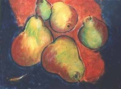 Jennifer Bailey; Fruit, 2002, Original Painting Acrylic, 36 x 28 inches. Artwork description: 241 An interaction between color and shape. ...