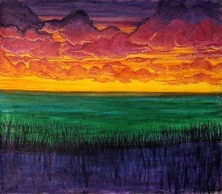 Jennifer Bailey; June Sky, 2020, Original Painting Oil, 60 x 48 inches. Artwork description: 241 While driving back to the city after a day trip away from the house the sky quickly filled with clouds as the sun descended. The colors where unbelievably saturating. My goal was to share the sentiment of the warmth in the sky and the vast open fields ...