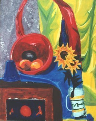 Jennifer Bailey; Stuff, 2002, Original Painting Acrylic, 24 x 36 inches. Artwork description: 241 still life...