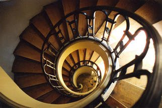 Jen Molander; Spiral Staircase, 2001, Original Photography Color, 20 x 16 inches. Artwork description: 241 Also available in sizes 5x7 ( $30) , 8x10 ( $75) , and 11x14 ( $100)...