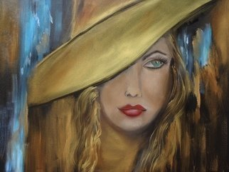 Jenny Jonah; Girl With The Gold Hat, 2020, Original Painting Oil, 24 x 18 inches. Artwork description: 241 Original oil painting on canvas...