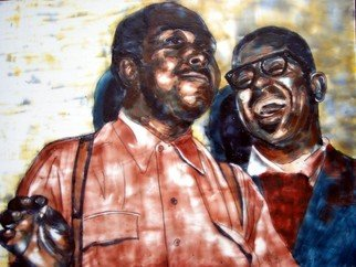 Jessie Fritsch; Charlie Parker And Dizzy ..., 2005, Original Painting Encaustic, 24 x 18 inches.