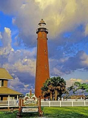 Thomas Jewusiak; Ponce Inlet Light House, 2007, Original Painting Oil, 20 x 26 inches.
