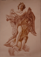 Artist: Judith Fritchman's, title: Angel of the Superscription, 2009, Drawing Pencil