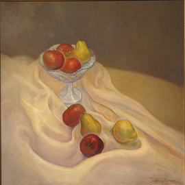 Judith Fritchman, , , Original Painting Oil, size_width{Apples_and_Pears-1181874760.jpg} X 24 inches