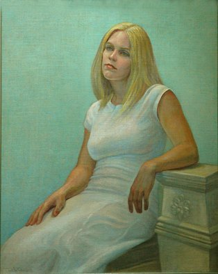 Judith Fritchman, 'Bridget', 2006, original Painting Oil, 24 x 30  x 2 inches. Artwork description: 2307 A classical setting reflects Bridget' s cool blond complexion and features. ...