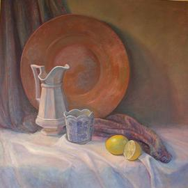 Judith Fritchman, , , Original Painting Oil, size_width{Copper_Tray_and_Pitcher-1093019205.jpg} X 26 inches