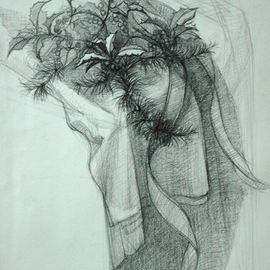 Judith Fritchman, , , Original Drawing Pencil, size_width{December_Gift-1165726851.jpg} X 25 inches