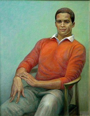 Judith Fritchman, 'Malik', 2006, original Painting Oil, 25 x 32  x 1 inches. Artwork description: 2307  Malik is a tall, athletic young man who excels in many sports; remaining seated  for someone with such energy was a challenge!  It was great fun to try to capture his warm, engaging personality. ...