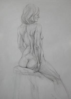 Judith Fritchman, 'Nude 10', 2001, original Drawing Pencil, 19 x 25  inches. Artwork description: 3891 Conte pencil on paper....