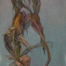 Judith Fritchman, , , Original Painting Oil, size_width{Stalking_Corn-1181875981.jpg} X 48 inches