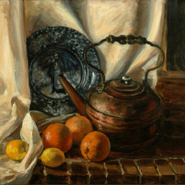 Judith Fritchman, , , Original Painting Oil, size_width{Still_Life_with_John_and_Priscilla-1181855048.jpg} X 24 inches