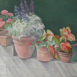 Judith Fritchman, , , Original Painting Oil, size_width{Summer_Wall-1092769520.jpg} X 35 inches