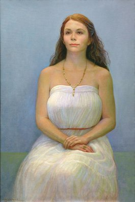 Judith Fritchman; Threshold, 2011, Original Painting Oil, 24 x 36 inches. Artwork description: 241   A lovely young woman poised at the threshold. . .  ...