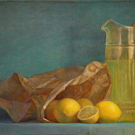 Artist: Judith Fritchman, title: When Life Gives You Lemons, 2012, Original Painting Oil