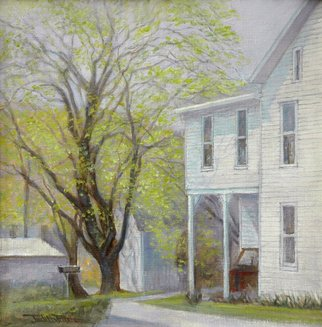 Judith Fritchman; Spring Greening, 2018, Original Painting Oil, 12 x 12 inches. Artwork description: 241 The long awaited promise of April in the village. ...