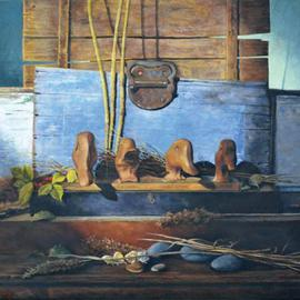 John Gamache, , , Original Painting Oil, size_width{All_My_Ducks_In_A_Row-1405187717.jpg} X 24 inches