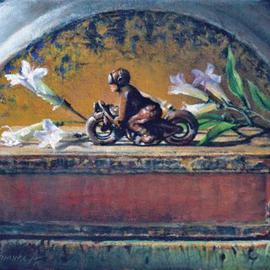 John Gamache, , , Original Painting Oil, size_width{Flames_and_Flowers-1362759973.jpg} X 9 inches