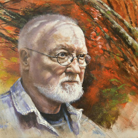 John Gamache, , , Original Painting Oil, size_width{Self_Portrait-1555001887.jpg} X 16 inches