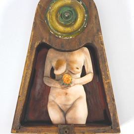 John Gamache, , , Original Mixed Media, size_width{Temple_of_the_Rose-1525965399.jpg} X 14 inches